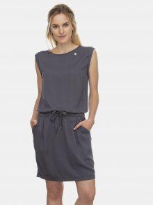 Ragwear tmavě šedé šaty Mascarpone - S