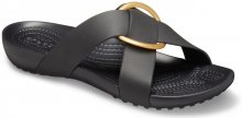 Crocs černé pantofle Serena Cross Band Slide - 36/37