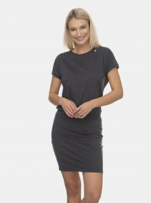 Ragwear tmavě šedé šaty Odyl - M