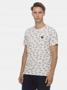 Šedé pánské vzorované tričko Ragwear - S