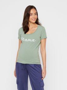 Zelené těhotenské tričko s potiskem Mama.licious Lucca