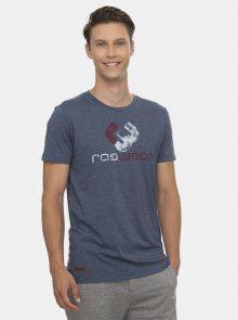 Modré pánské tričko s potiskem Ragwear Rogger - S