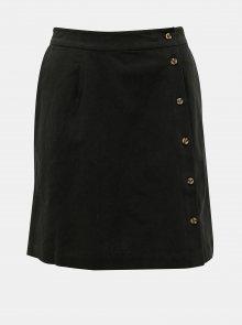 Černá lněná sukně Selected Femme Malvina