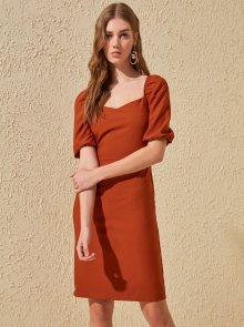 Trendyol oranžové letní šaty - S