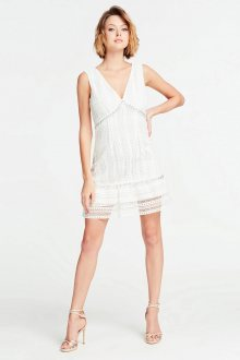 Guess bílé šaty s krajkou - XS