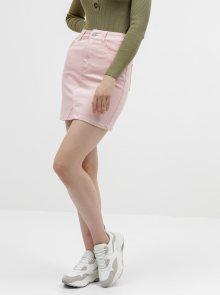 Růžová džínová sukně VILA Cassie