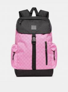 Růžový kostkovaný batoh VANS