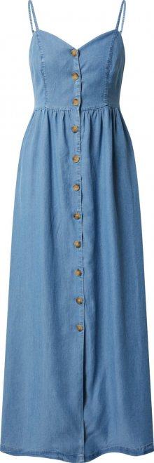 ONLY Letní šaty \'ONLCUMA LIFE SL BTN DWN LONG S DNM DRESS\' modrá džínovina