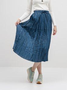 Tmavě modrá plisovaná maxi sukně ONLY Liva
