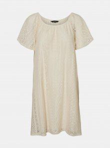 Krémové krajkové volné šaty VERO MODA Lea