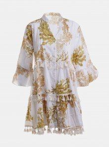 Bílé vzorované šaty Ble