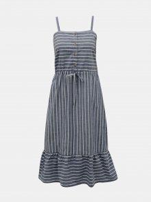 Modré pruhované šaty VERO MODA Cary
