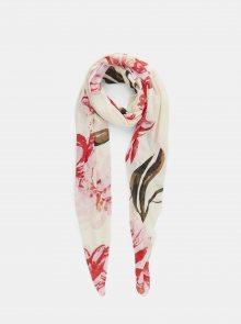 Krémový květovaný šátek Pieces April