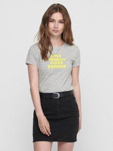 Šedé tričko s potiskem ONLY Clara