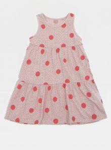 Růžové holčičí puntíkované šaty name it