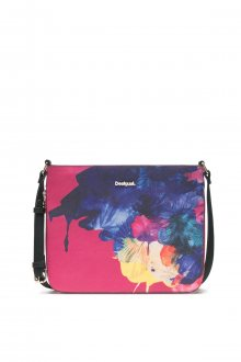 Desigual růžová kabelka s barevnými motivy Corel Molina