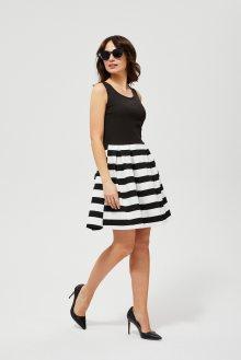 Moodo černo-bílé šaty s pruhy - XS