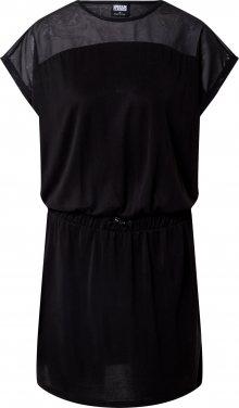 Urban Classics Šaty \'Ladies Tech Mesh Modal Dress\' černá