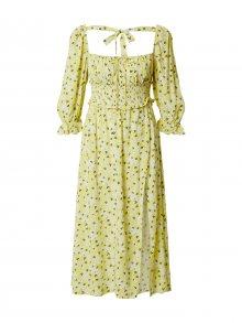For Love & Lemons Letní šaty \'Chrysanthemum\' žlutá / bílá / černá