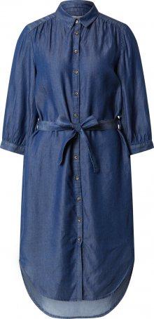 Soft Rebels Košilové šaty modrá džínovina