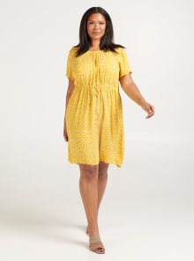 Žluté květované šaty Zizzi