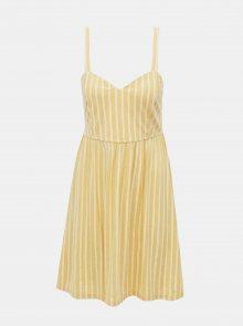 Žluté pruhované šaty ONLY Sharon
