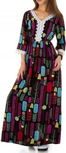 Dámské vzorované maxi šaty