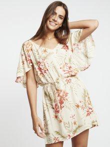 Krémové květované šaty Billabong