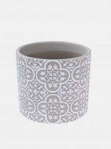 Šedý keramický květináč Dakls