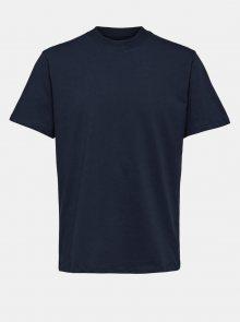Tmavě modré basic tričko Selected Homme Relax