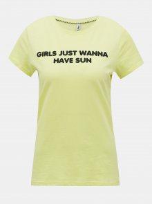 Světle zelené tričko s potiskem ONLY Clara