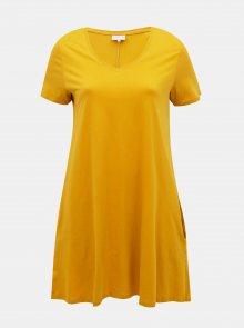 Žluté basic šaty ONLY CARMAKOMA Day