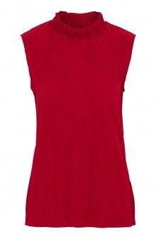 Slavnostní tričko bez rukávů Hali / červená