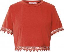 GLAMOROUS Tričko rezavě červená