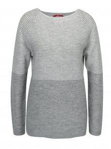 Krémovo-šedý dámský žíhaný svetr s.Oliver