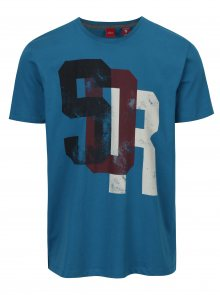 Tmavě modré pánské tričko s potiskem s.Oliver