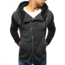 Pánská stylová mikina rozepínací s kapucí černá