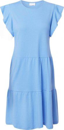 VILA Letní šaty kouřově modrá
