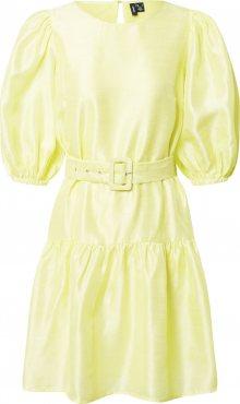 VERO MODA Šaty citronově žlutá