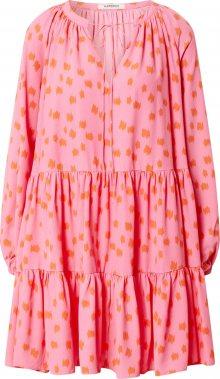 GLAMOROUS Letní šaty pink / oranžová