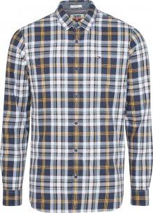Tommy Jeans Košile námořnická modř / hořčicová / bílá
