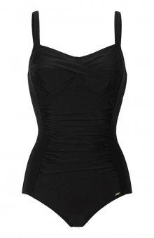 Černé tvarující jednodílné plavky / černá