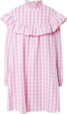 GLAMOROUS Šaty pink / bílá
