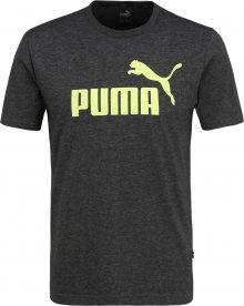 PUMA Funkční tričko \'Heather\' antracitová / limone