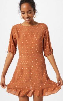 Cotton On Šaty \'Woven Lucie Mini\' hnědá / bílá