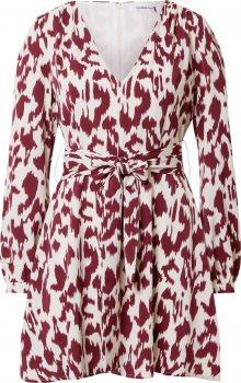 GLAMOROUS Šaty bílá / vínově červená