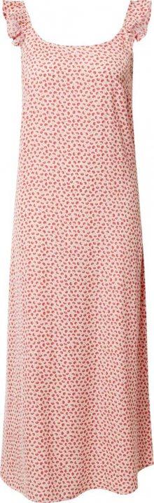 PIECES Šaty \'PCMAYA SLIP ANKLE DRESS\' pink / růžová