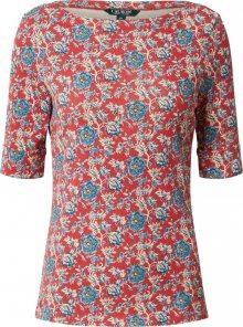 Lauren Ralph Lauren Tričko \'Judy\' pastelově červená / béžová / nebeská modř / pastelově žlutá