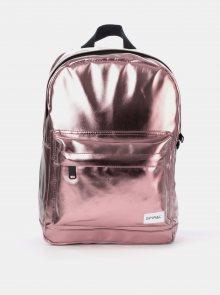 Růžový lesklý batoh Spiral