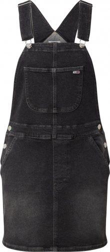 Tommy Jeans Šaty \'Classic Dungaree\' černá džínovina